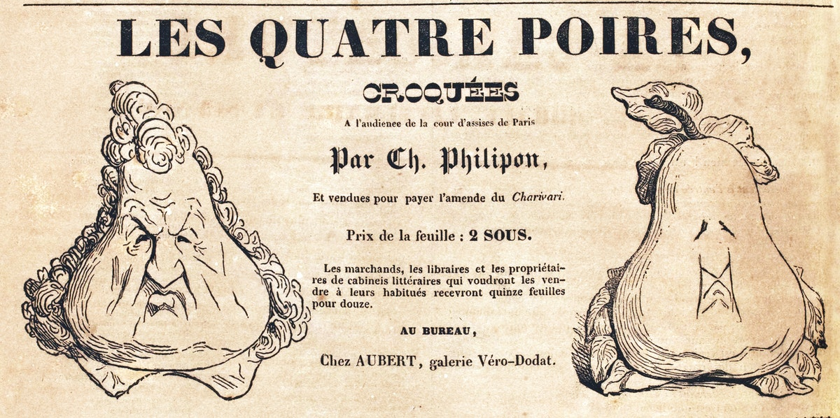 Advertisement for Poster of Philipon Pear Drawing