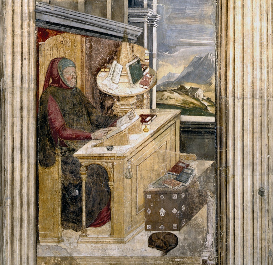 Petrarch writing