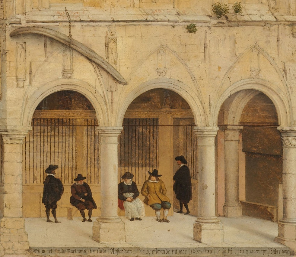 Detail of Pieter Jansz. Saenredam painting of The Old Town Hall of Amsterdam