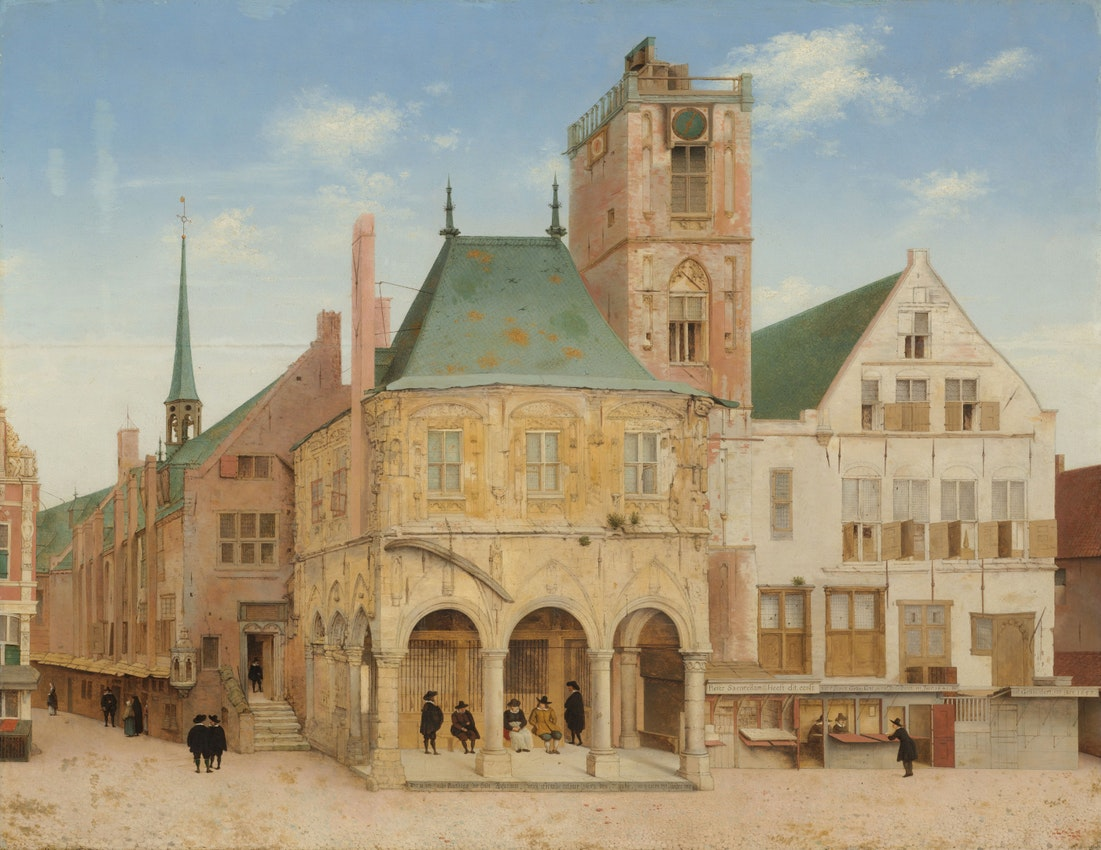 Pieter Jansz. Saenredam painting of The Old Town Hall of Amsterdam