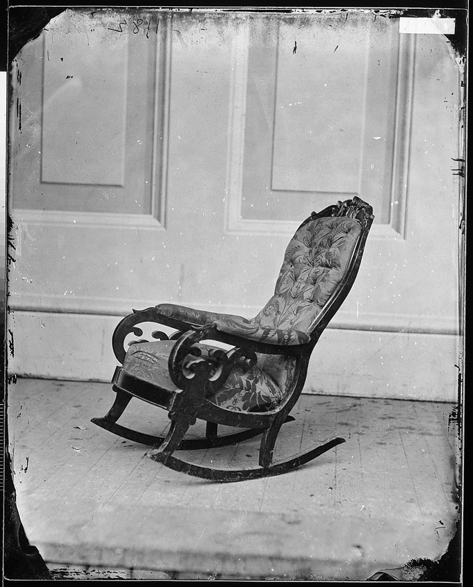 Lincoln's rocking chair when he was assassinated