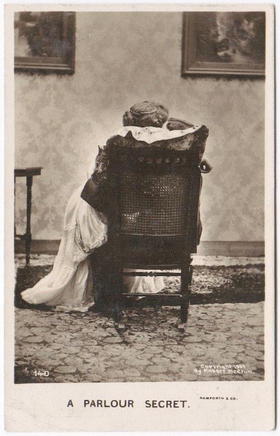 a parlour secret postcard