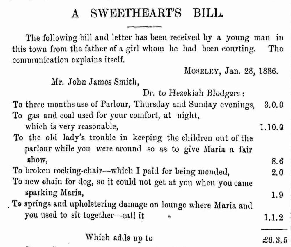 a sweetheart's bill