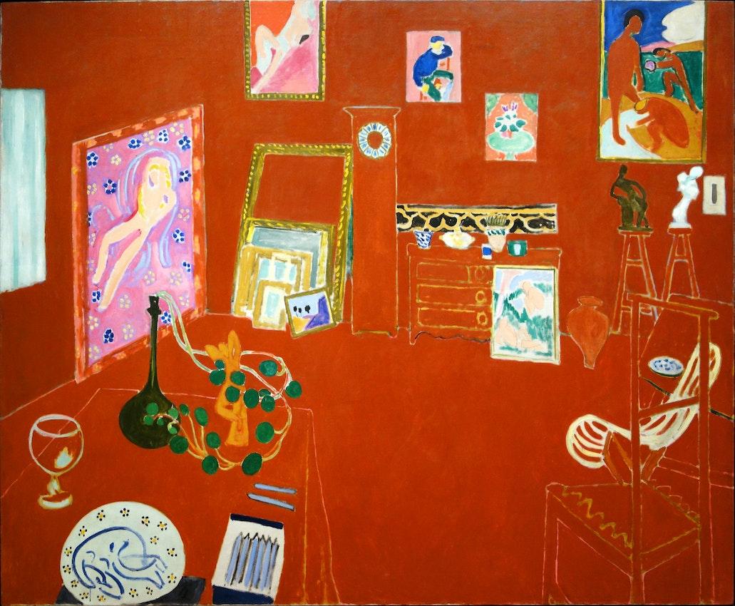 "Matisse Red Studio) caption={Henri Matisse, *The Red Studio*, 1911 — <a href=""https://www.flickr.com/photos/profzucker/22888990534"">Source</a>"
