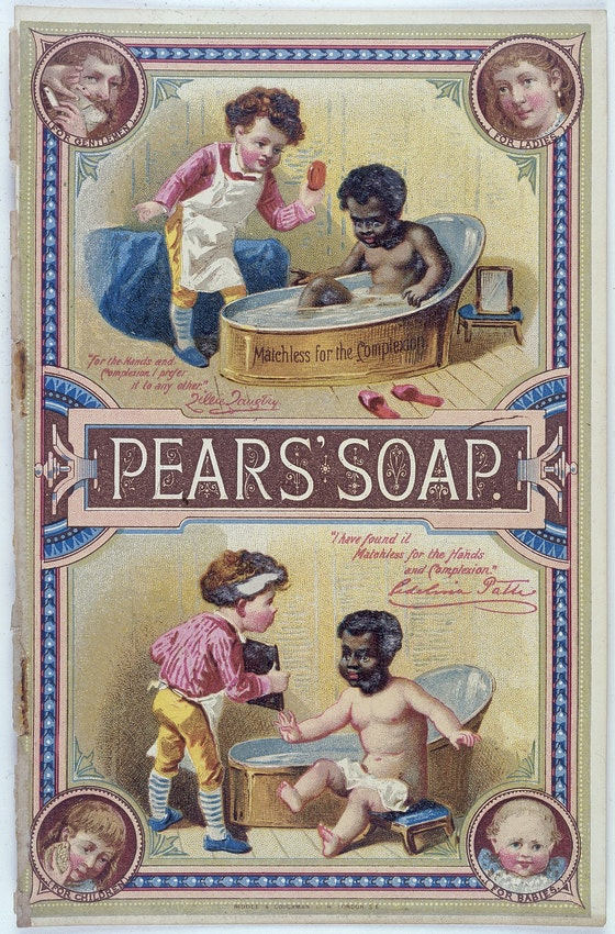 pears soap ad race bath