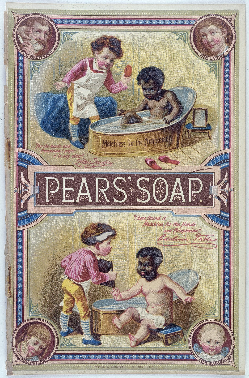pears soap ad race bath