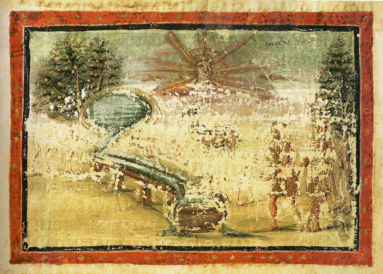 Vergilius Vaticanus illustration of watering flocks