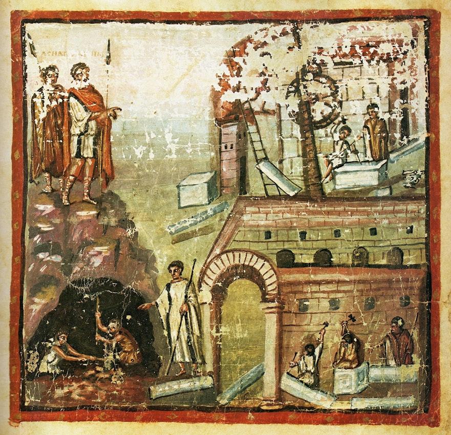 Carthage illustration from Vergilius Vaticanus