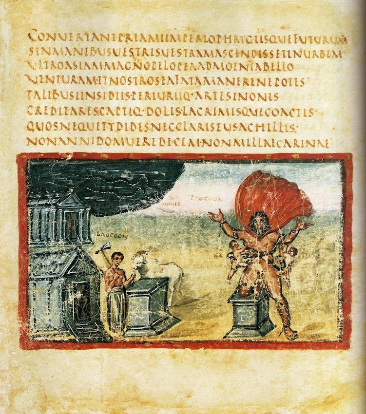 Vergilius Vaticanus illustartion of Laocoon