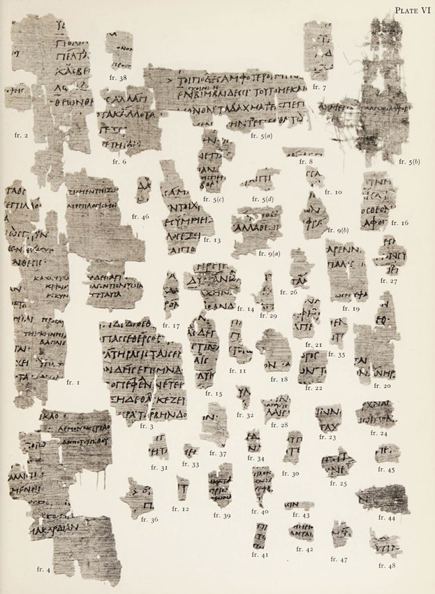 Papyrus fragments from Oxyrhynchus