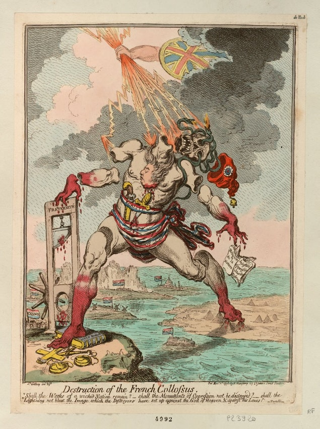 james gillray french colossus