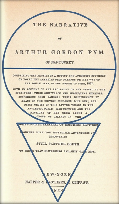 The title page with a circle and a triangle overlaid