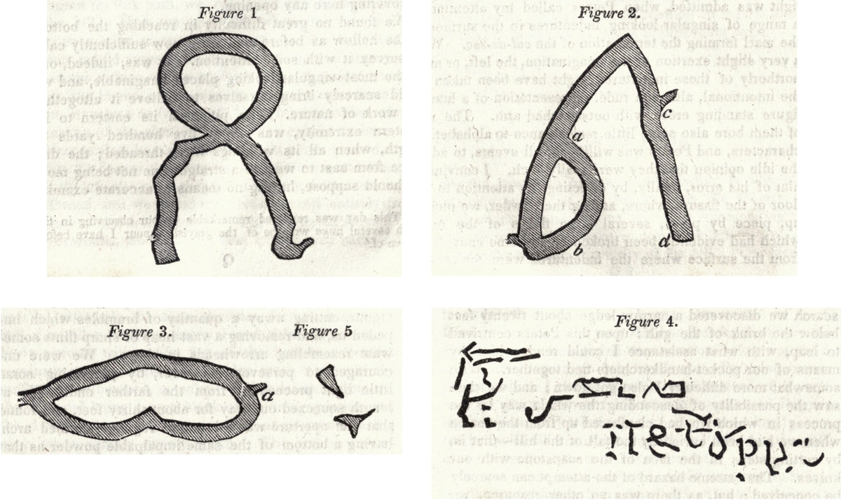 A collection of figures with line drawings demonstrating these shapes