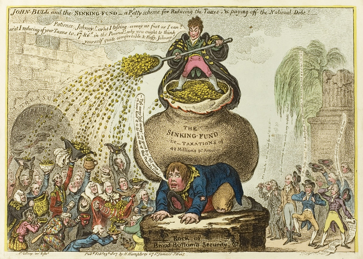 sinking fund james gillray illustration