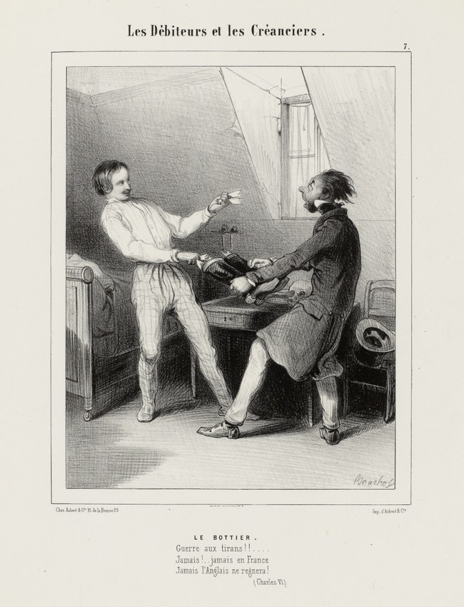 Illustration from Frédéric Bouchot's Debtors and Creditors