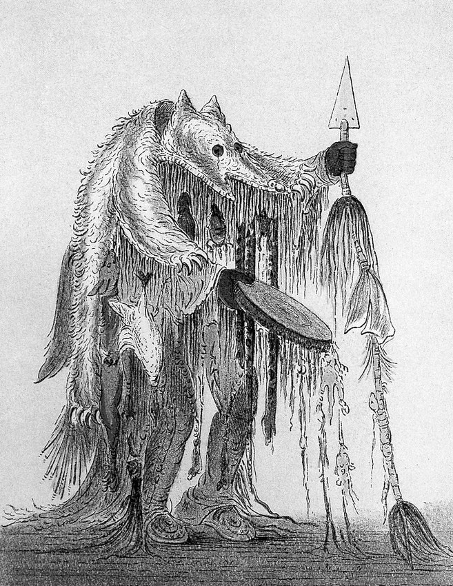 bear head medicine man catlin
