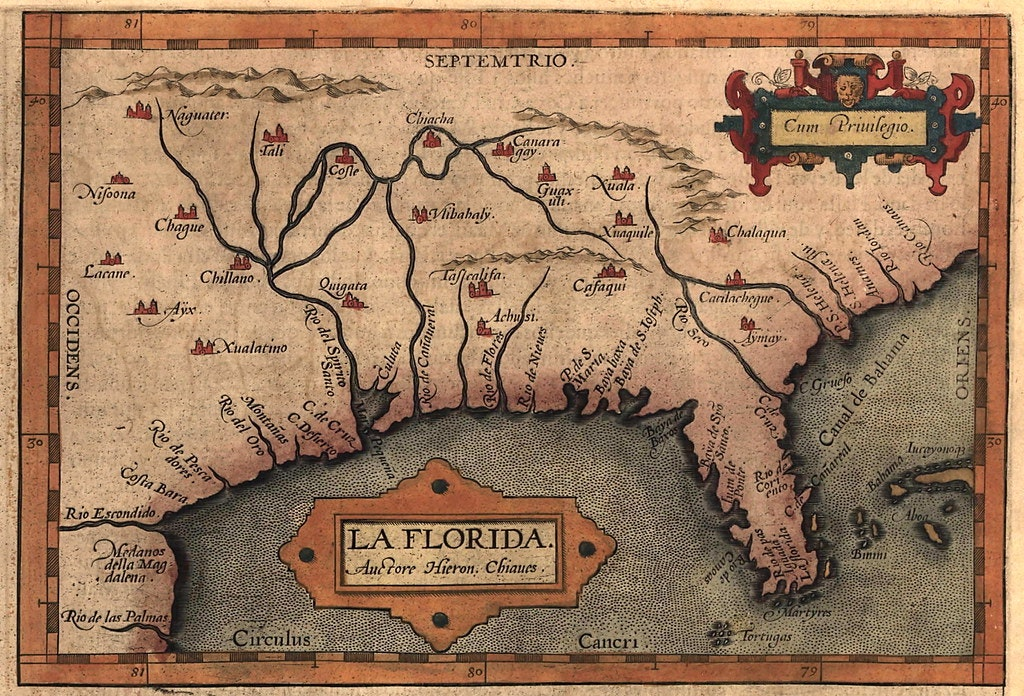 old map of florida