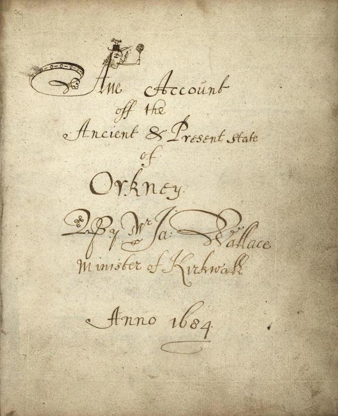 Wallace orkney 1684 manuscript