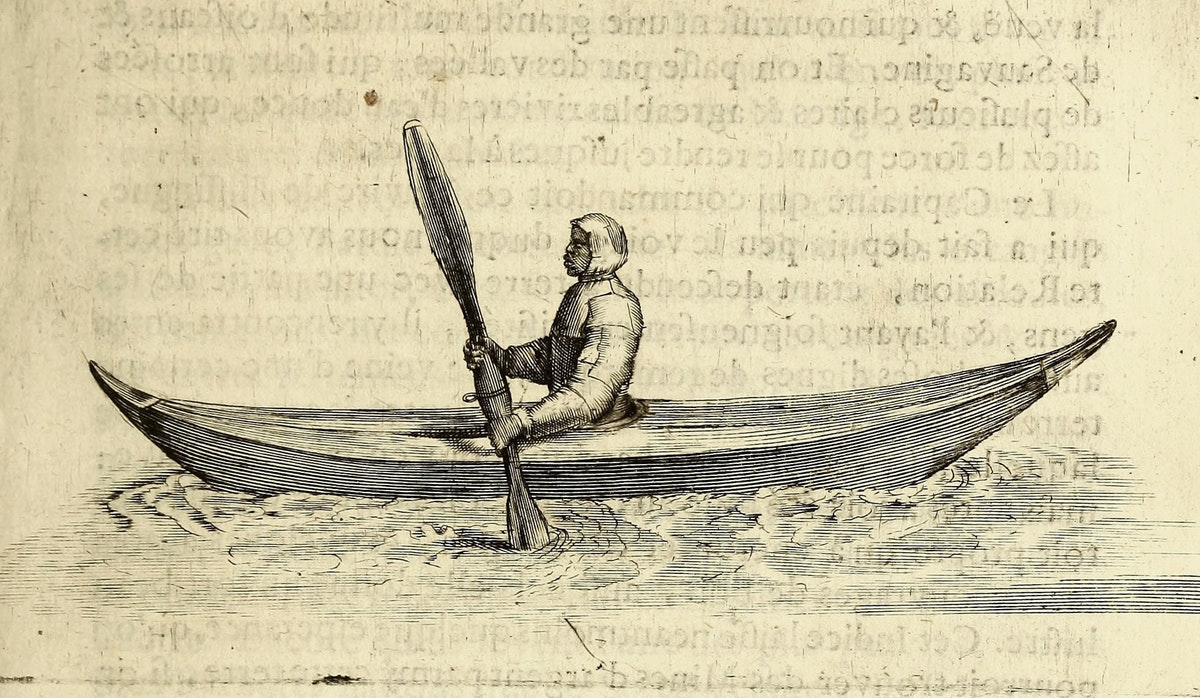 inuit kayaker in rochefort