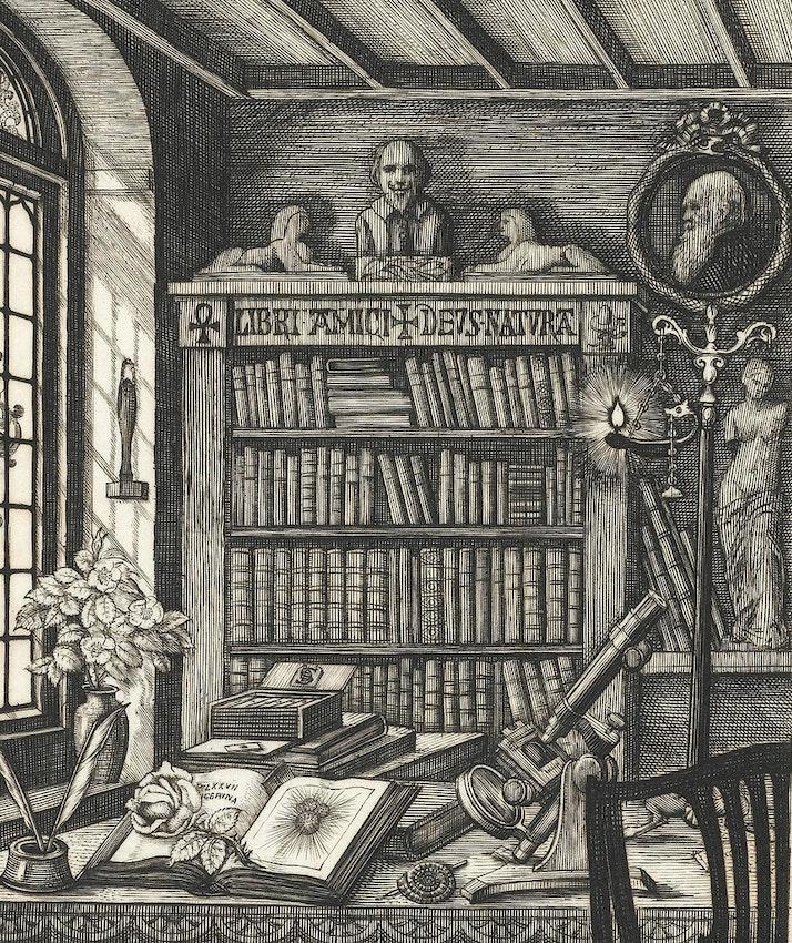 Charles Davies Sherborn bookplate