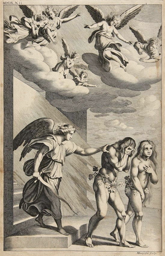 John Baptist Medina illustration of the expulsion from paradise