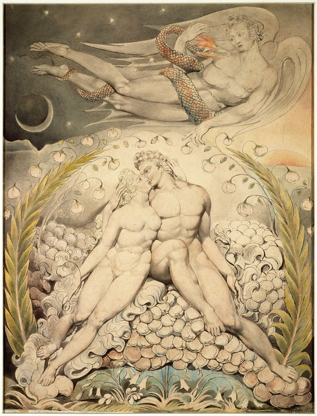 Adam and Eve by William Blake from his Paradise Lost series
