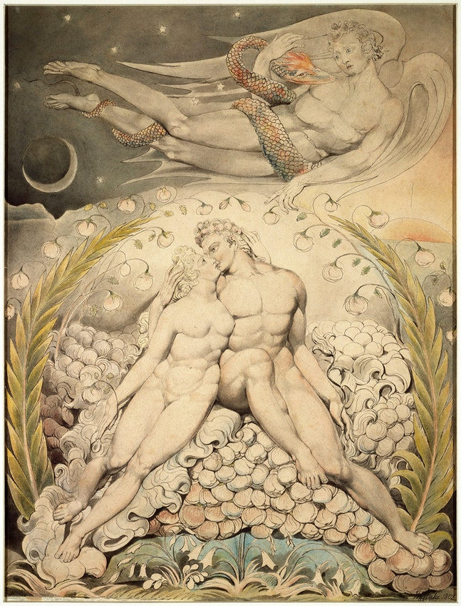 Adam and Eve de William Blake de su serie Paradise Lost