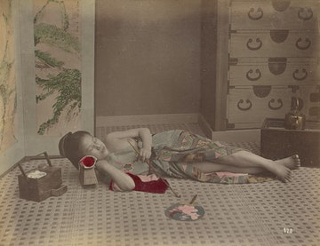 Woman Reclining with Pipe