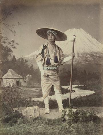 Pilgrim Going Up Fujiyama