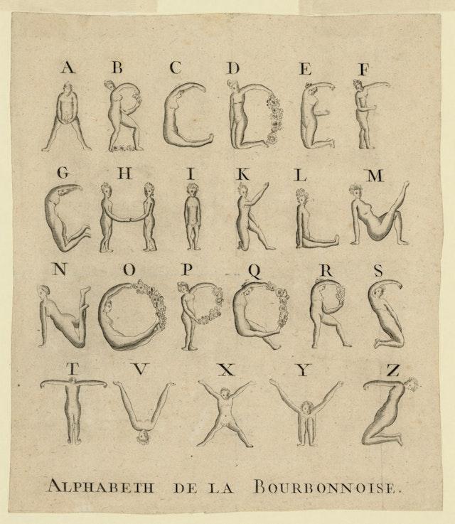 Bourbonnoise Alphabet