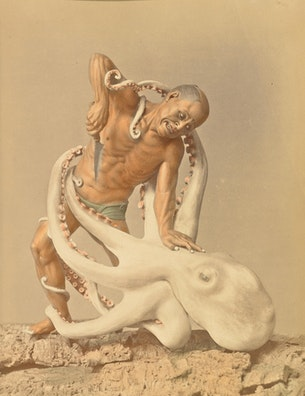 Man and Octopus