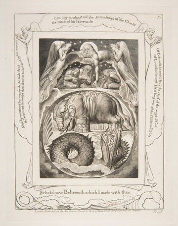 Behemoth and Leviathan, from Illustrations of the Book of Job, 1825-26