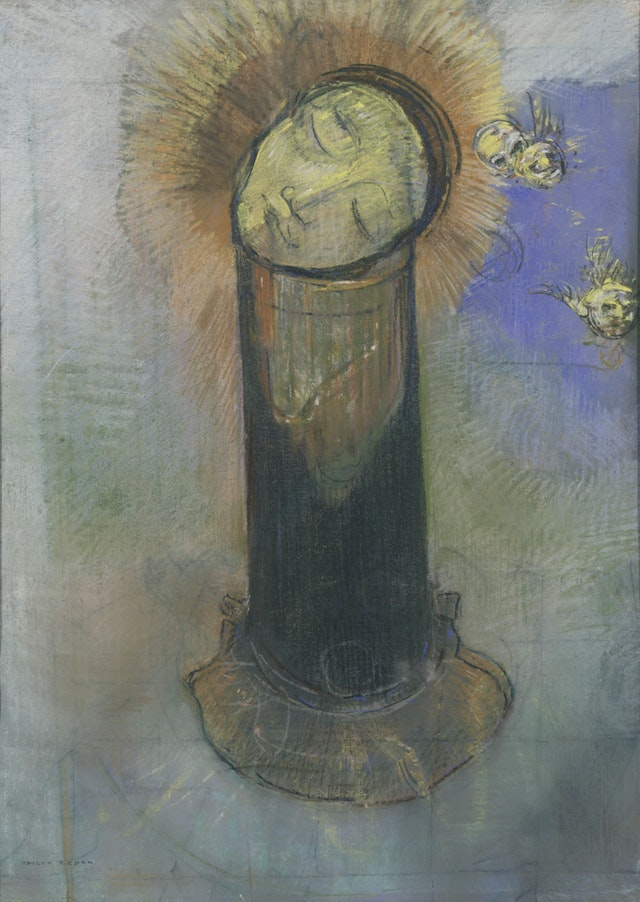 The Head of John the Baptist, on a Pillar