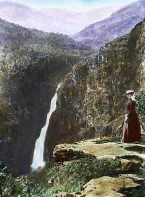 The Stalheimsfossen Waterfall near Voss