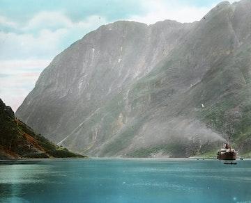 View of the Nærøyfjord from Gudvangen, Sogn
