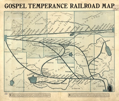 Gospel Temperance Railroad Map