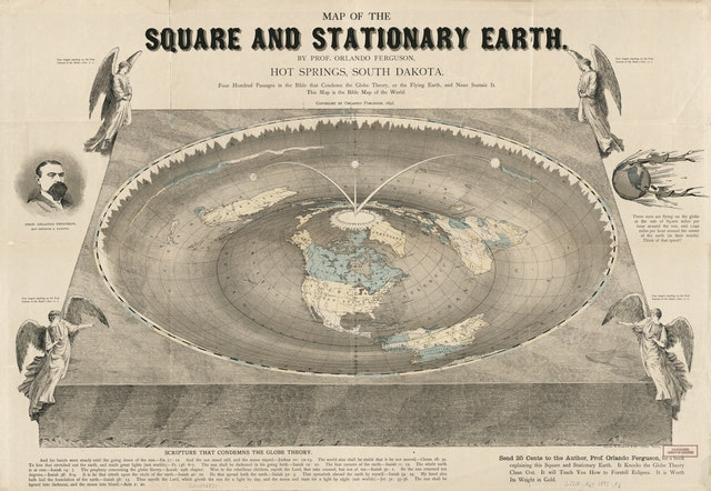 Map of the Square and Stationary Earth