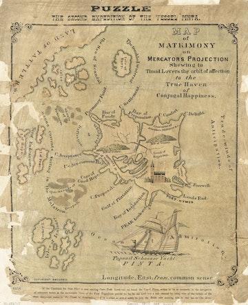 Map of Matrimony on Mercators Projection