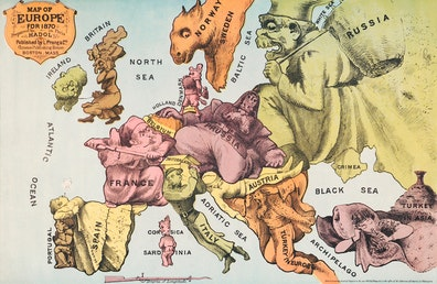 Map of Europe for 1870