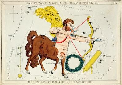 Sagittarius and Corona Australis, Microscopium and Telescopium