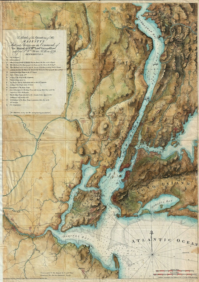 Des Barres Map of New York City and Harbor