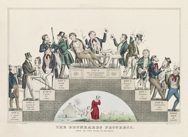 The Drunkard's Progress: From the First Glass to the Grave