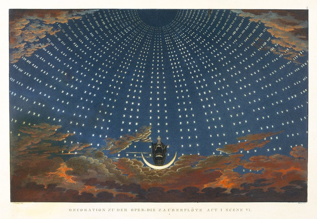 The Hall of Stars, a Design for The Magic Flute
