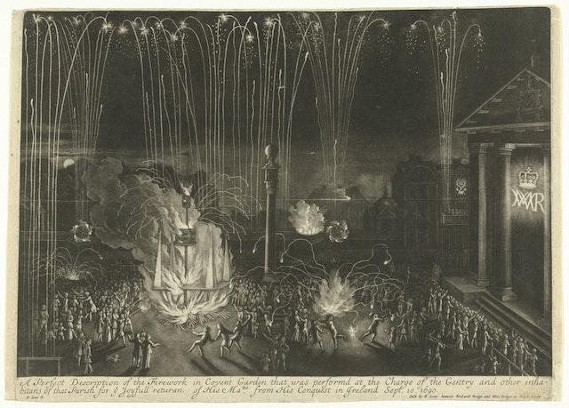 Fireworks in Covent Garden