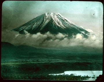 Snow-covered Mountain (Mt. Fuji)