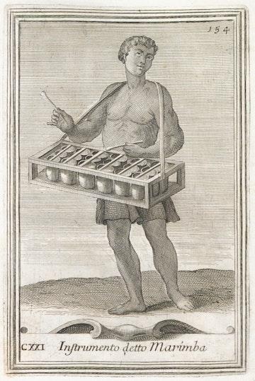 Instrumento detto Marimba