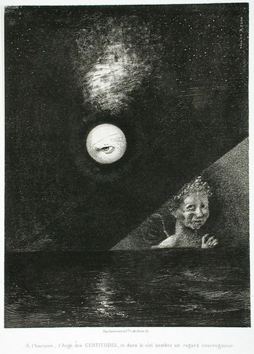 To Edgar Poe (On the Horizon the Angel of Certainty, and in the Dark Sky, an Interrogating Look)