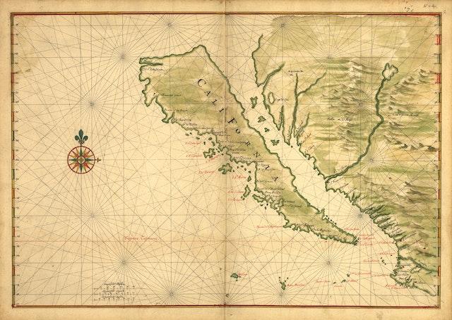 Map of California as an Island