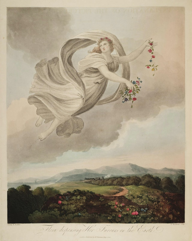 Flora Dispensing her Favours on the Earth