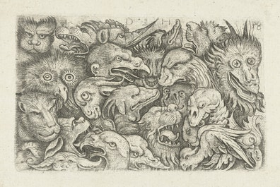 Grotesque Decoration with Animal Heads